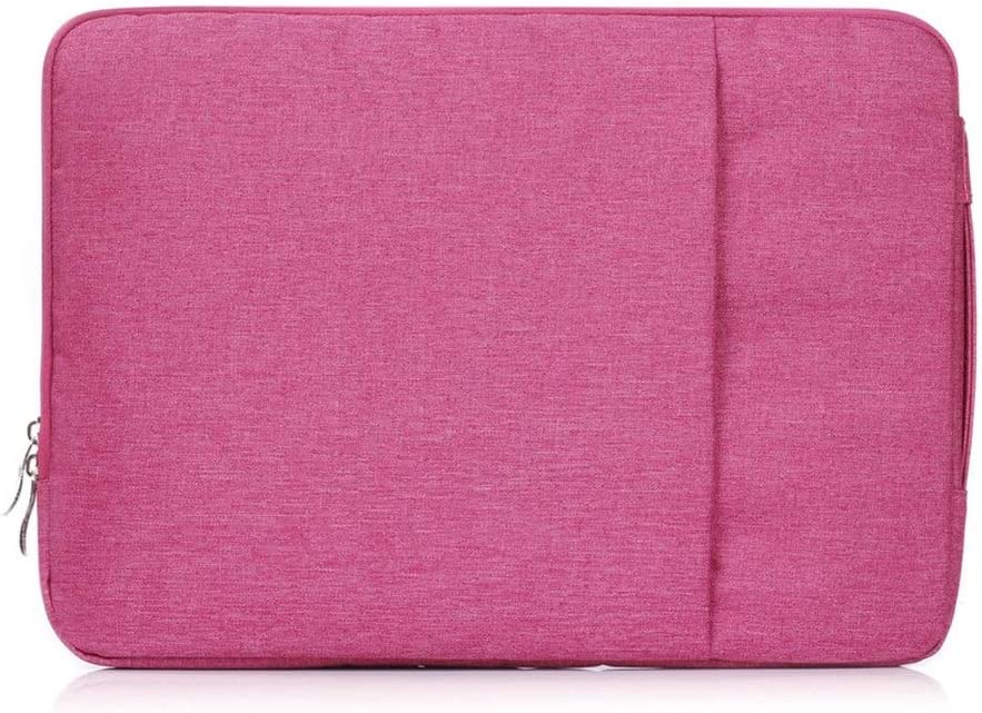 Hemengjuan for MacBook 11 12 13 15 Inch Nylon Laptop Bag Sleeve Pouch for Apple Mac Book Air Pro Retina 13.3 15.4 Bag Color : Rose red, Size : for MacBook 15 inch