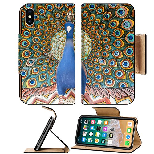 Art Art Chandra (Liili Premium Apple iPhone X Flip Pu Leather Wallet Case artwork on the gate in the city palace chandra mahal in india rajasthan jaipur 27983339)