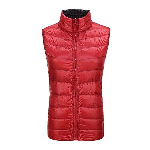 Mujer chaquetas de down chaleco la recta cuello breve párrafo abrigo cremallera mantener caliente us...