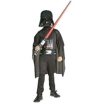 Star Wars - Disfraz Darth Vader con espada, para niños, 8-10 años