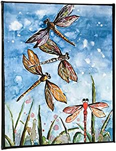 Amazon.com : Dragonfly Watercolor Painting On Canvas