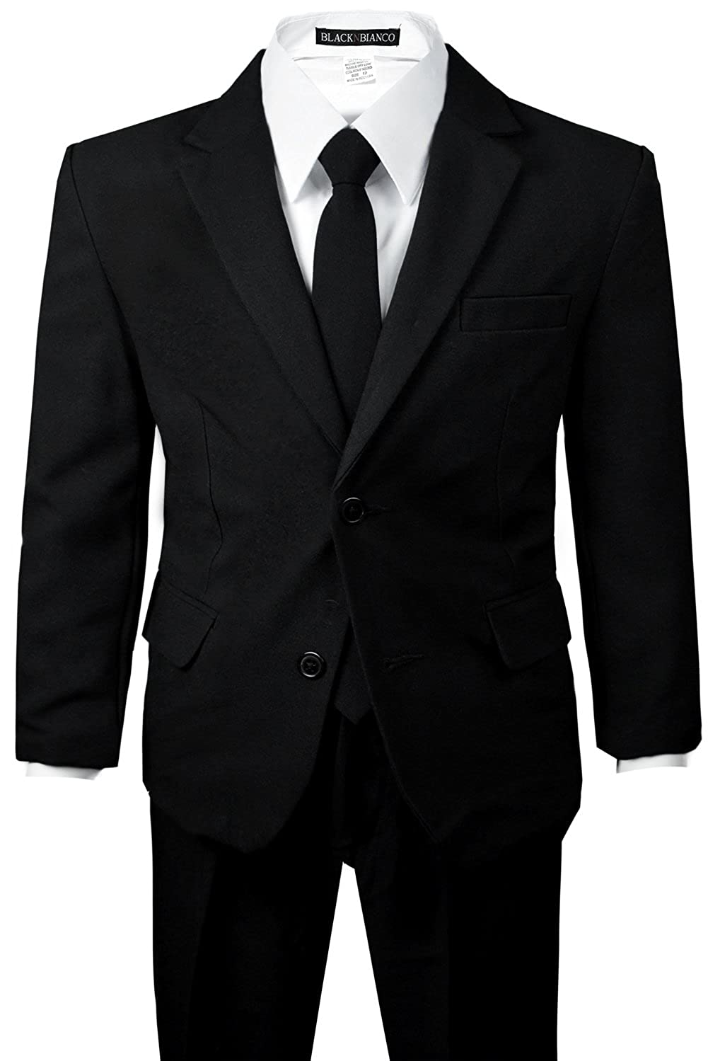 Boys Toddler Black Suit with Two Plastic Buttons