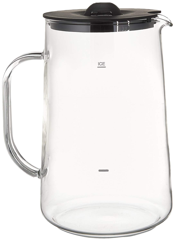 Capresso 6624 Ice Tea Glass Pitcher, 80 oz. (2.5 Qt.) (2 Units)