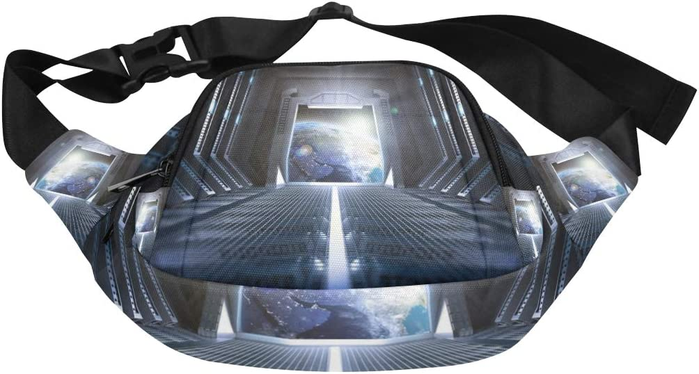 Magical Amazing Space Corridor Fenny Packs Waist Bags Adjustable Belt Waterproof Nylon Travel Running Sport Vacation Party For Men Women Boys Girls Kids