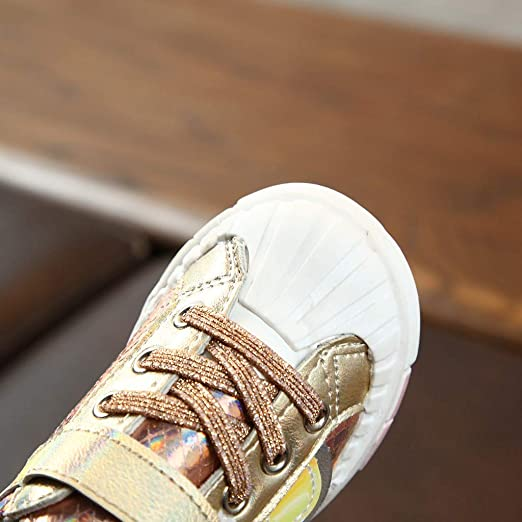 Baby Girls Ivory Shoes with Soft Fabric and Rubberized Sole 15-18 Months 4.5