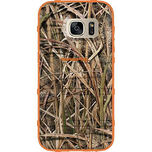EGO Tactical Limited Edition Design UV-Printed onto a MAG780 Field Case Compatible with Samsung Galaxy S7 (Not for Edge or Active) Mossy Oak, Over Orange