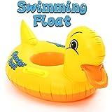 FUNTOK Pato amarillo anillos inflables de la natación Diseño amarillo lindo del pato Flotador Asiento del barco Círculo…