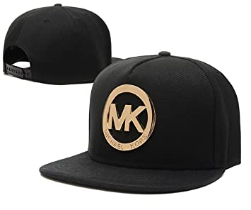59950fbb9e0 ... purchase mk michael kors hyst eresen hats caps black with metal logo  b25f4 6666a