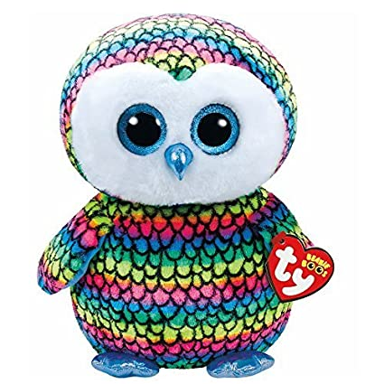 3ad7319ebb7 Amazon.com  Claire s Accessories TY Beanie Boos Large Aria the Owl Plush Toy  by Claire s  Toys   Games