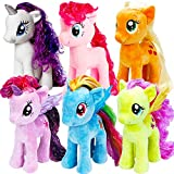 Ty My Little Pony Beanie Babies Collection -- Set of 6 Plush Dolls (Rarity