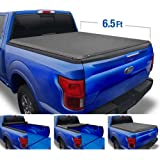 Tyger Auto Black T1 Soft Roll Up Truck Tonneau Cover for 2015-2020 Ford F-150 Styleside 6.5' Bed TG-BC1F9030