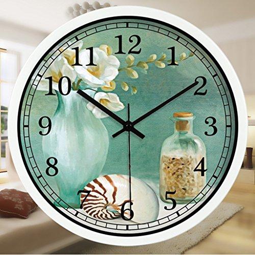 CCYYJJ The Abstract Art Wake Up Simple Alarm Clock Lounge Restaurant Mute Alarm Clock Alarm Clock (Literary Color Mode: # 1, Size: 30Cm)