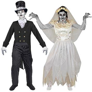 viel rabatt genießen Beste bieten eine große Auswahl an Geister Zombie Vampir Paar KOSTÜM VERKLEIDUNG Halloween ...