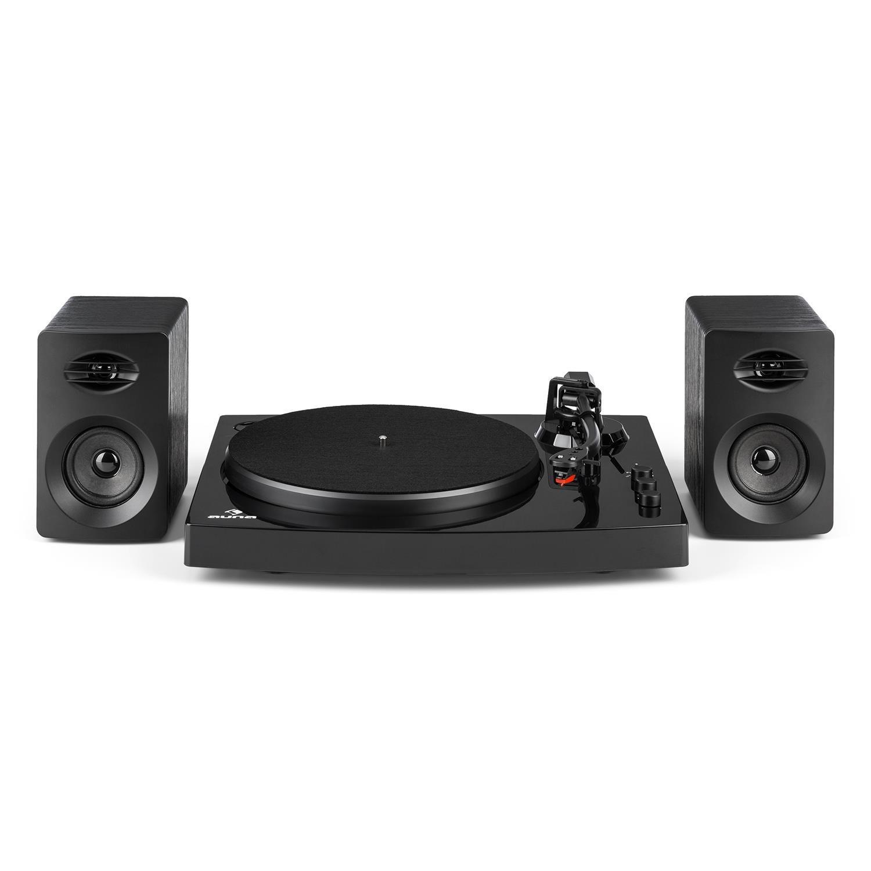 auna TT-Play - Tocadiscos con Dos Altavoces estéreo , Tocadiscos , Tracción por Correa silencioso , Cápsula de cerámica , Pitch Control , 33 1/3 y 45 ...