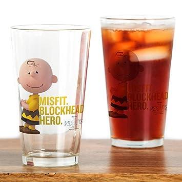 6993f788722 CafePress – Charlie Brown – Blockhead – Pint-Glas