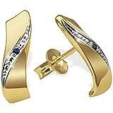 Goldmaid - Pr O460GGS - Boucles d'Oreilles Femme - Or jaune 333/1000 (8 carats) 1 gr - Saphir