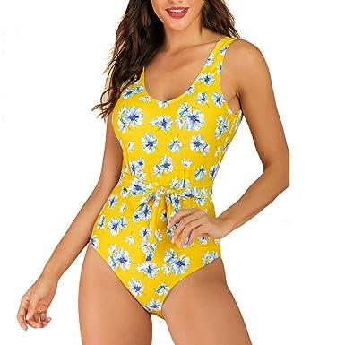 Sylar Bañadores De Mujer Tallas Grandes, Traje De Baño Mujer Una Pieza con Cinturón Bikini Mujer Push Up con Acolchado Bañador De Mujer Talla Grande ...