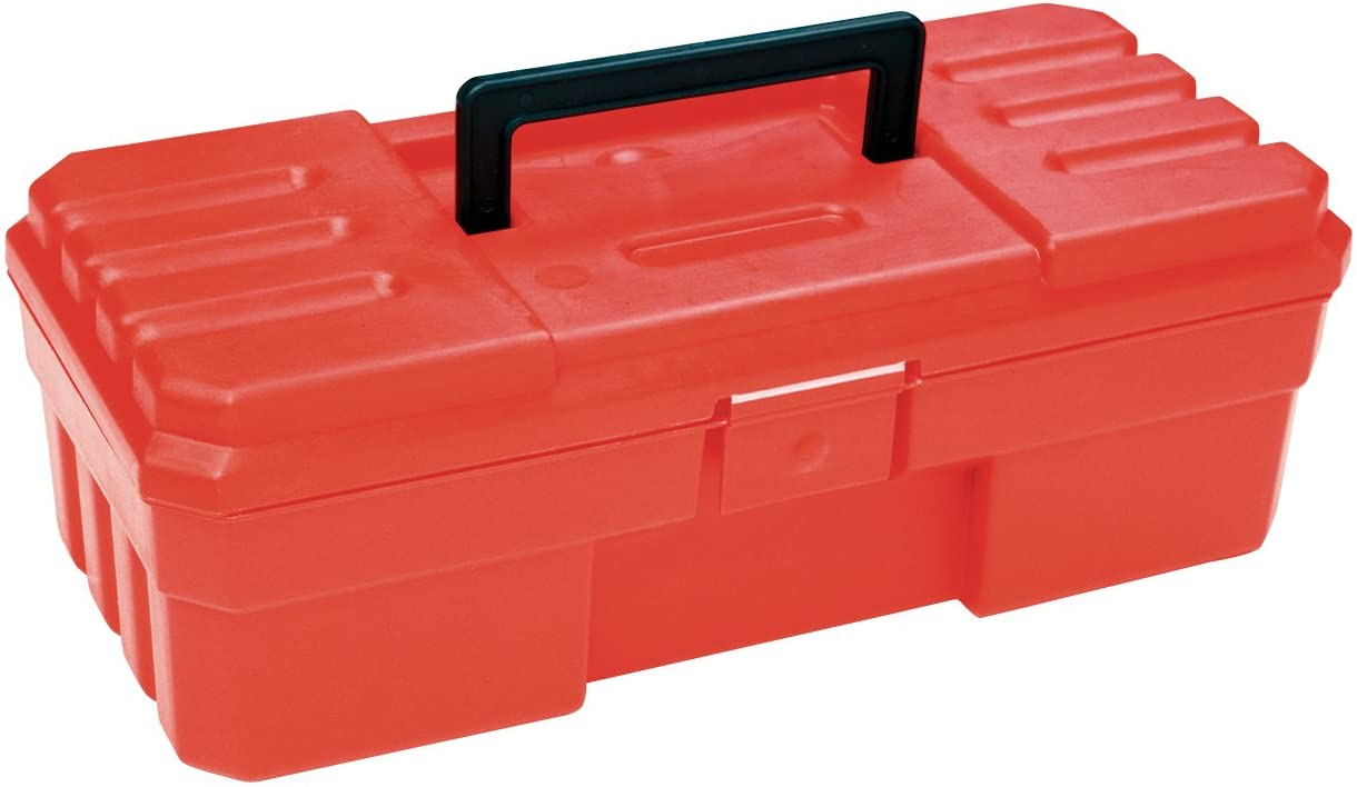 Akro-Mils 12-Inch ProBox Plastic Toolbox for Tools, Hobby or Craft Storage Toolbox, Model 09912, (12-Inch x 5.5-Inch x 4-Inch), Red - Plastic Tool Box With Handle -