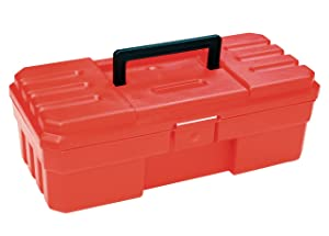 Akro-Mils 9912 12-Inch ProBox Plastic Tool Box, Red
