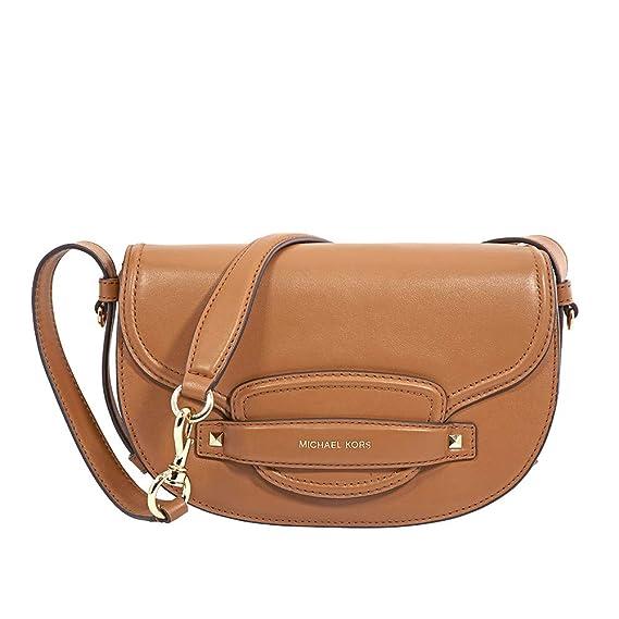 03759b35c33a MICHAEL Michael Kors Women's Cary Medium Leather Saddle Bag One Size Acorn