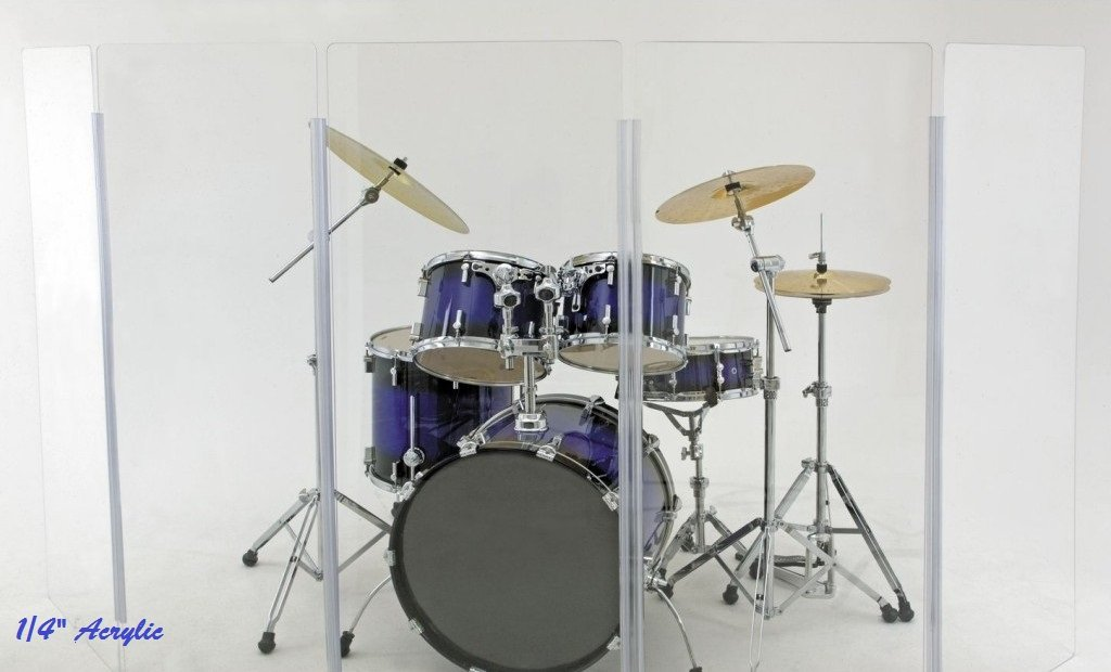 Drum Shield- DS65L Five - 2ft. x 6 ft. Panels with Plastic Full Length Living Hinges by Pennzoni Display (Image #7)