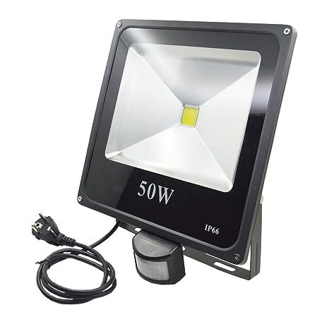 d3-glw LED 50 W Foco Luz con detector de movimiento, foco LED,