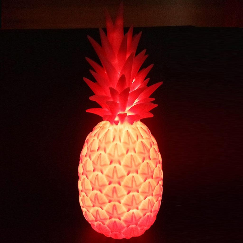 Tischlampe,Gute Nacht Licht Ananas Dekoration, Tischlampe, Nachtlicht, PVC, PVC, PVC, vier Farben, 14 × 14 × 36 cm, B B07D6N3YY8 | Überlegen  cb6152