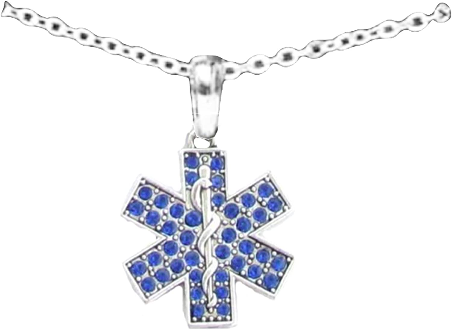 EMS Medical Symbol Charm Jewelry 925 Sterling Silver EMT Paramedic Necklace