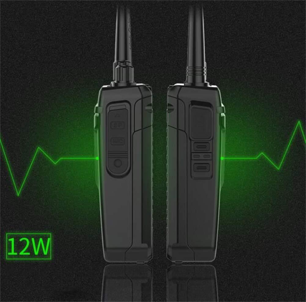 Walkie Talkies, High Power Outdoor Long Standby 10 Km Handheld Property Engineering Walkie (Black, 1 Pair) by HDJ (Image #4)