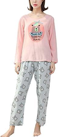 Mujer Pijamas Mujer Otoño Invierno Conjunto De Pijama ...