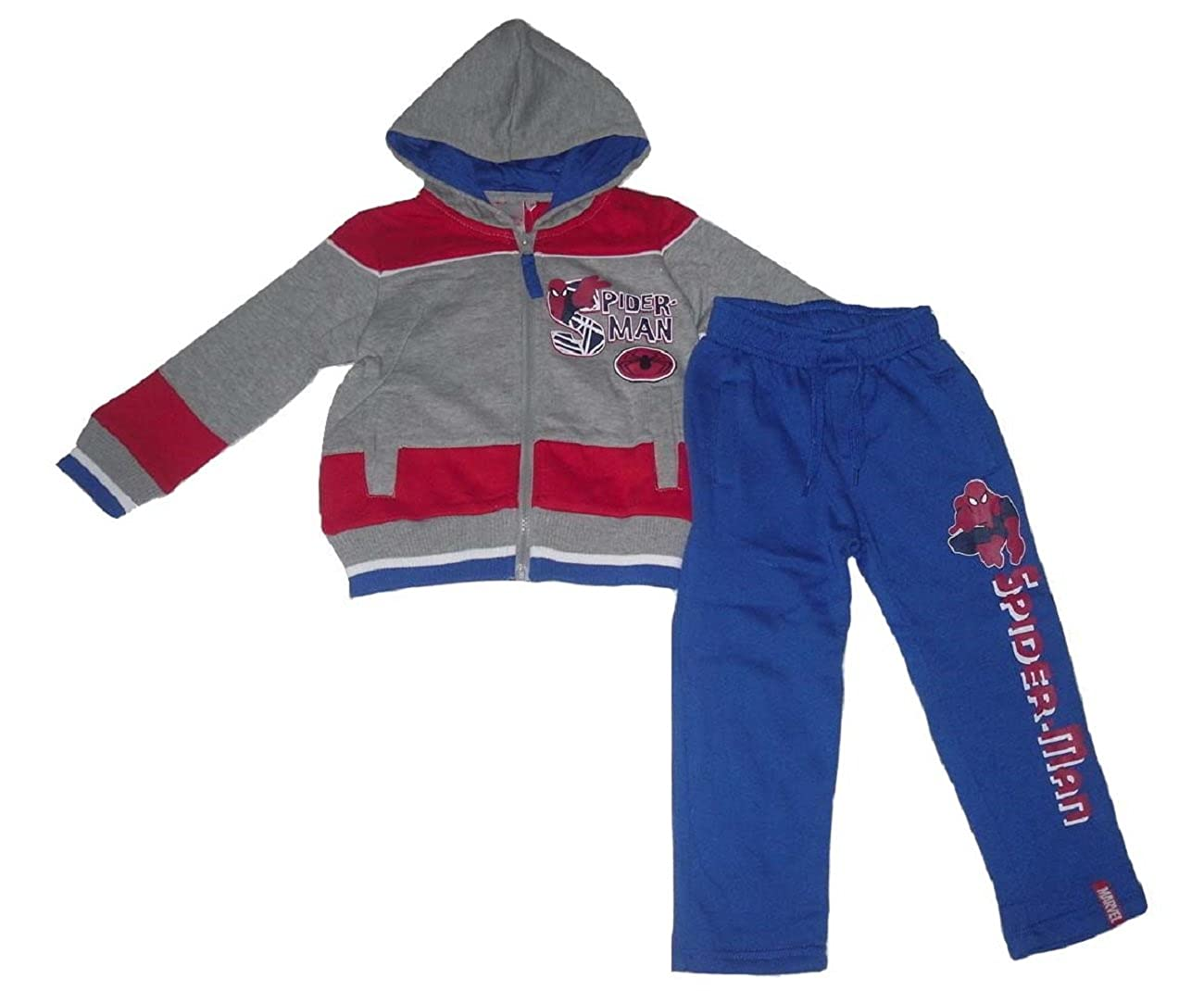 Boys Jogging Set Tracksuit Official Spiderman Marvel 2-8 Years Old (7-8 Years =8a, Red & Grey)