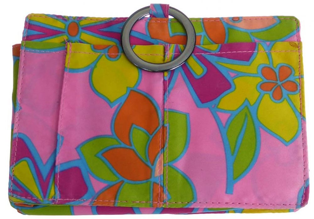 Pouchee Purse Organizer- Original Style-Bright Blooms Smooth Sateen by Pouchee