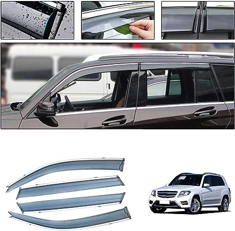 Saitake Windabweiser Für Mercedes Benz Glk Class 2012 2015 Autofenster Visier Sonne Regen Rauchabzug Schatten Klebeband Außenvisiere Auto