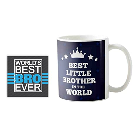 Buy YaYa CafeTM Birthday Gifts For Best Little Brother In The World Quote Printed Mug 330 Ml Set Rakhi Online At Low Prices India