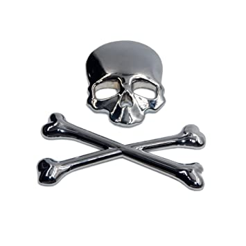 T tocas skull crossbone pirate car 3d emblem logo chrome metal badge sticker decal for suzuki