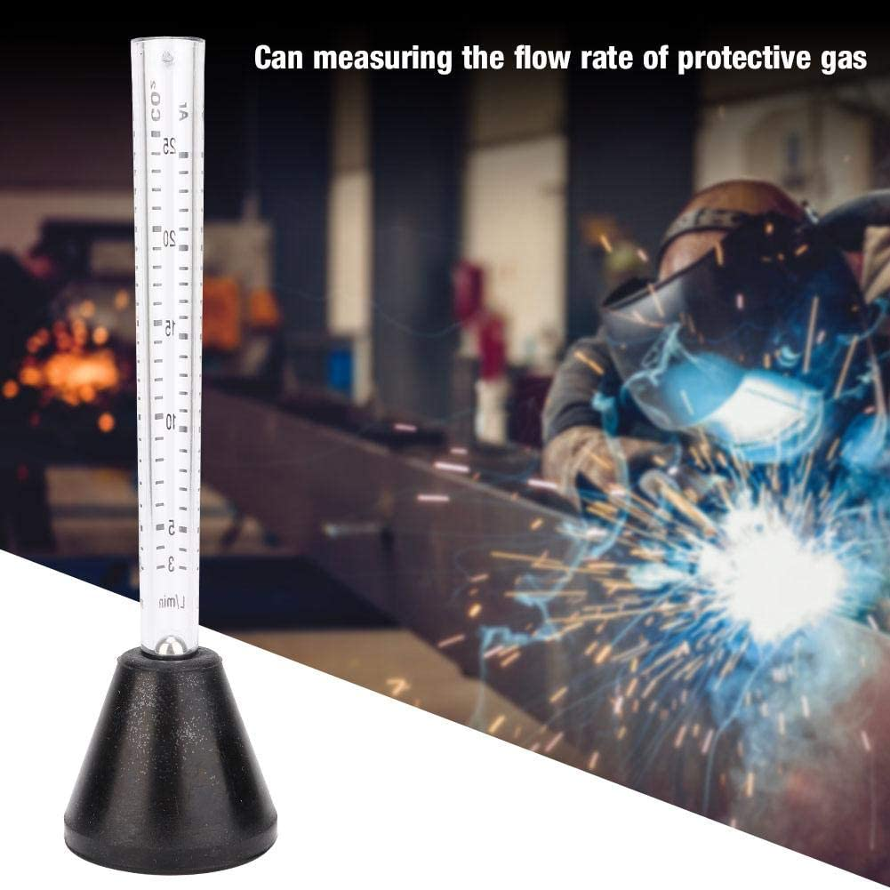 Medidor de flujo de arg/ón de ox/ígeno de alta precisi/ón Medidor de regulador de aire Probador de medidor de flujo de gas para escala de medici/ón dual para soldadura de soldador Mig Tig