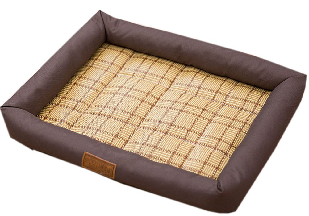 Fluffy Paws Pet Bed Crate Pad Premium Summer Bedding for Dogs & Cats ,Brown