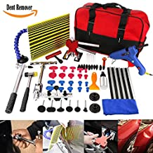 PDR Tool Kit Car Dent Remover Kit WHDZ 64pcs PDR Tool Dent Lifter Paintless Dent Hail Removal Repair Tools Glue PDR Tool Kit PDR Pro Tabs Tap Down Line Board Auto Dent Kit Dent Puller