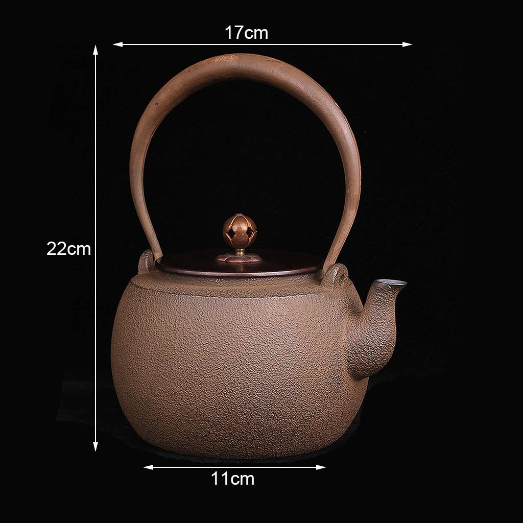 Vintage Teapot 1.3 Liter, Cast Iron Teapot with Infuser, Handmade Kettle, Safe and Healthy, Suitable for Induction Cooker, Electric Ceramic Stove, Charcoal Stove, Gas, Etc by the teapot company (Image #3)