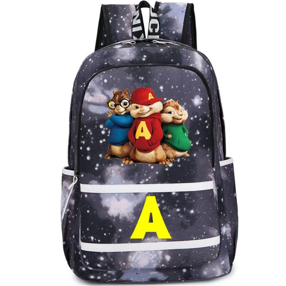 Unlimitedfy Alvin and The Chipmunks Backpack Schoolbag for Boys Book Bag Bag Pack Handbag Travelbag