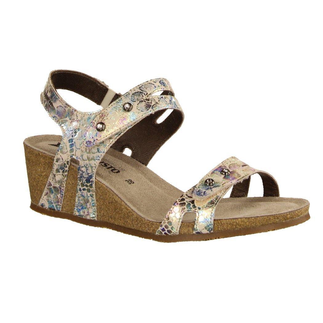 Mephisto Damen Sandaletten Minoa Damenschuhe SandaletteSling, Mehrfarbig, Leder (Queen), absatzhöhe: 40 mm bunt 425992