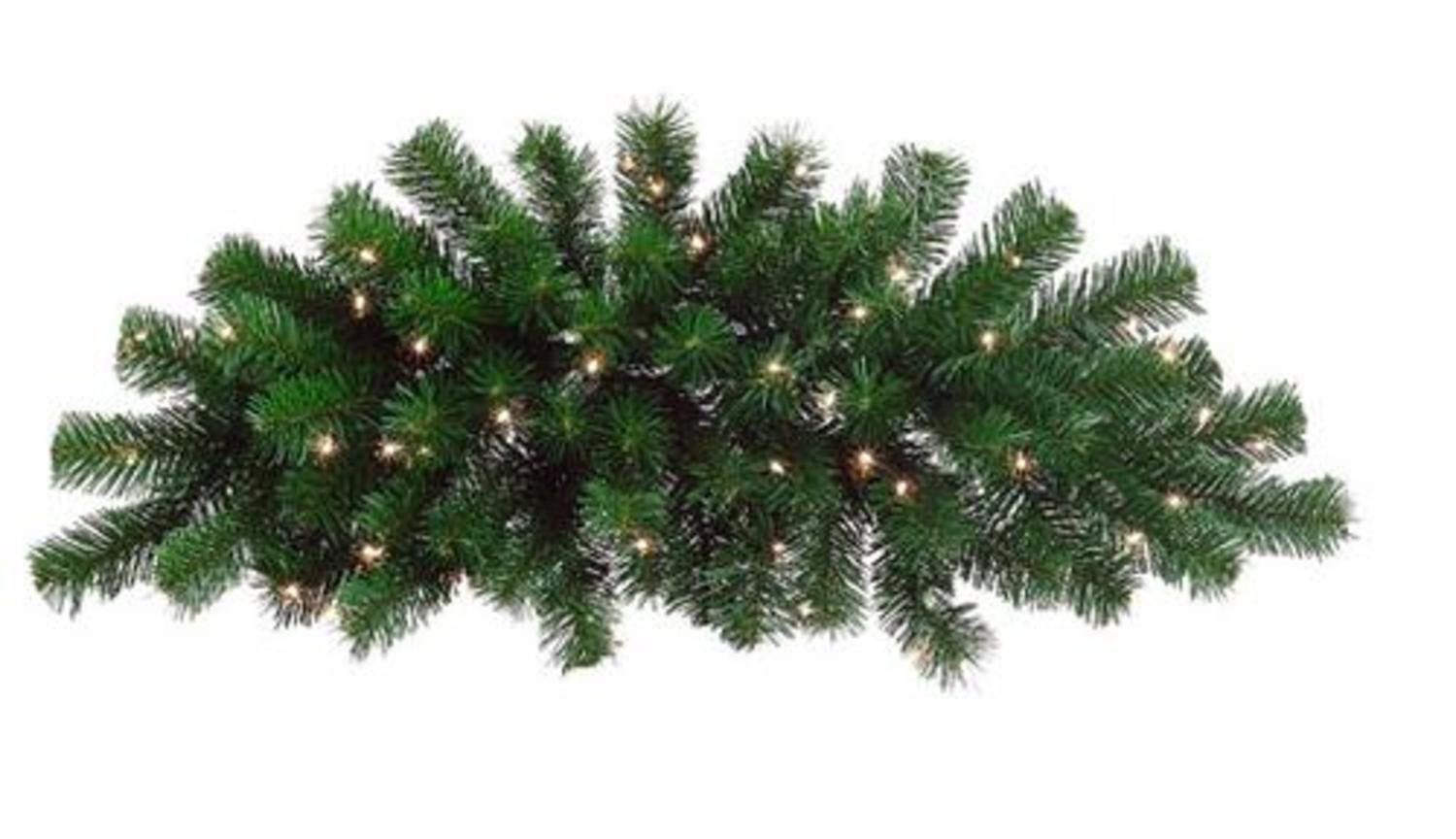 Northlight 28'' Pre-Lit Deluxe Windsor Pine Artificial Christmas Swag - Clear Lights