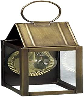 product image for Brass Traditions 341 DADB Small Wall Lantern 300 Series Loop Top, Dark Brass Finish 300 Series Loop Top Wall Lantern