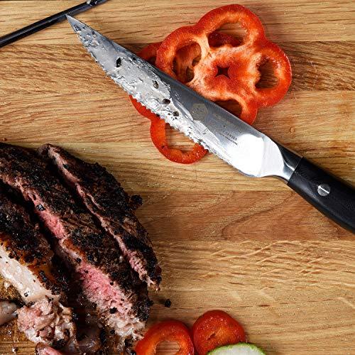 Kessaku Steak Knife 4 Pack Set - Dynasty Series - German HC Steel, G10 Full Tang Handle, 4.5-Inch by Kessaku (Image #3)