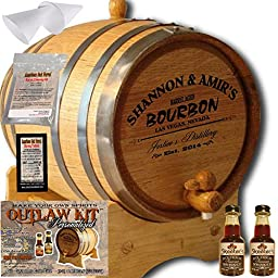 Personalized Outlaw Kit (Tennessee Bourbon) From American Oak Barrel - Design 062: Barrel Aged Bourbon (1 Liter)