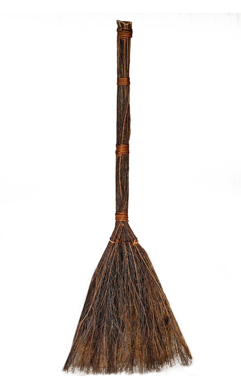 """American Oak 36"""" Tall Cinnamon Scented Broom Accessory Home Decor Prop Decoration"""