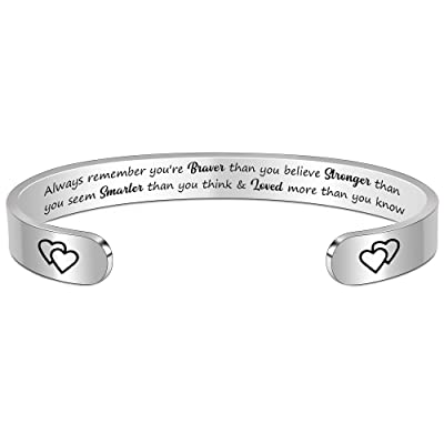 Inspirational Bracelet Mothers Day Gift Graduation Day Gift for Her Perfect Birthday Day Gift For Girlfriend Quote Bracelet For Her