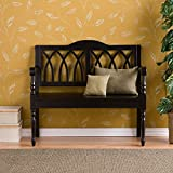 Harper Blvd Loma Wood Bench, Antique Black Finish