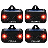 Lycoming 4 Pack Deer Repellent Devices Raccoon Repellent for Nocturnal Animals Solar Predator Control Light Coyote Deterrent