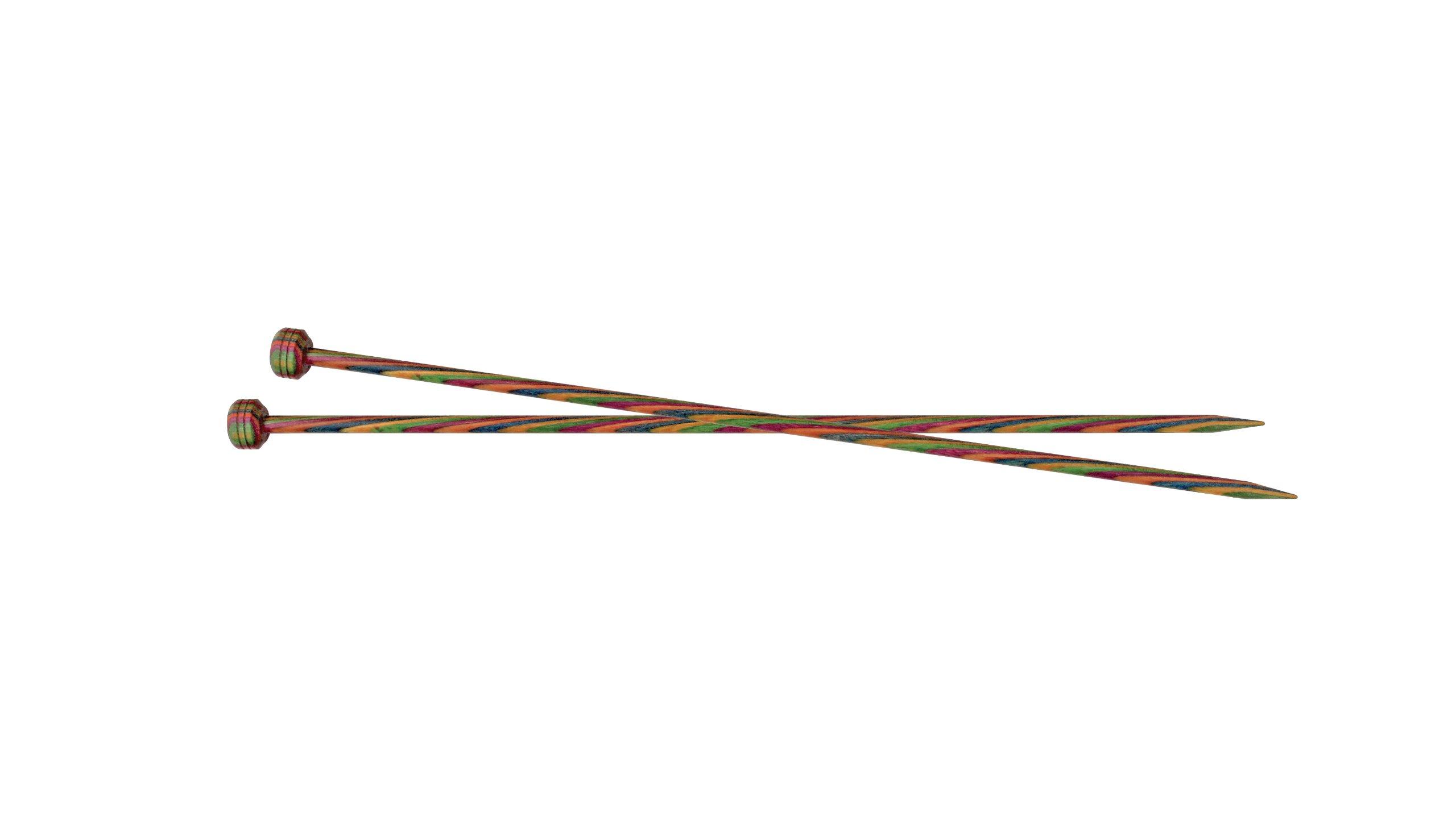 KnitPro 40 cm x 5 mm Symfonie Single Pointed Needles, Multi-Color